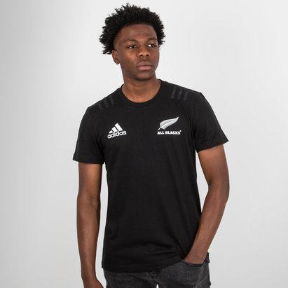 adidas Nueva Zelanda All Blacks 2018 Camiseta de Rugby de Algodon
