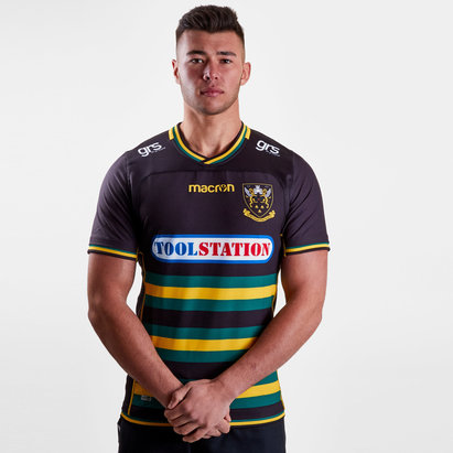 Macron Northampton Saints 2018/19 Home - Camiseta de Rugby Auténtica Test