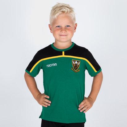 Macron Northampton Saints 2018/19 T-Shirt de Rugby de Viaje para Niños