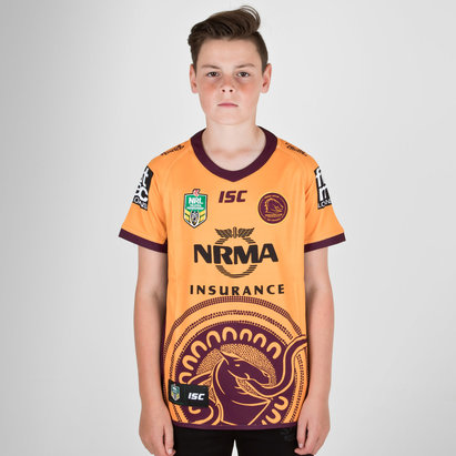 ISC Brisbane Broncos NRL 2018 Indigenous Camiseta de Rugby de Niños