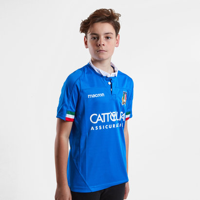 Macron Italia 2018/19 Replica Home Rugby para Niños