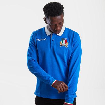 Macron Italia 2018/19 Polo de Jugador de Rugby