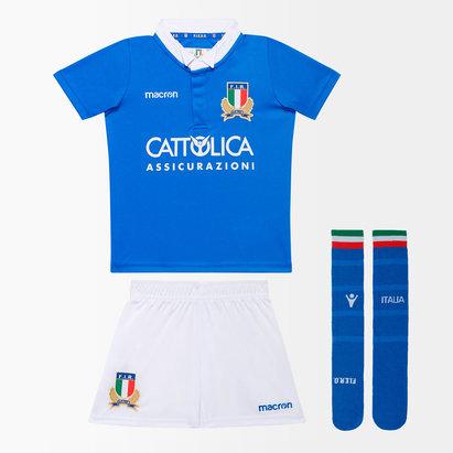 Macron Italia 2018/19 Home Replica Kit Mini de Rugby