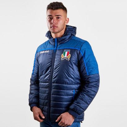 Macron Italia 2018/19 Chaqueta para despues de Juego de Rugby