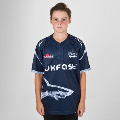 Samurai Sale Sharks 2018/19 Home Camiseta Replica de Rugby para Niños