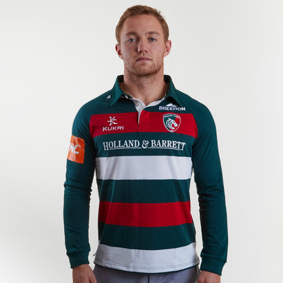 Kukri Leicester Tigers 2018/19 Camiseta Clasica Local de Rugby
