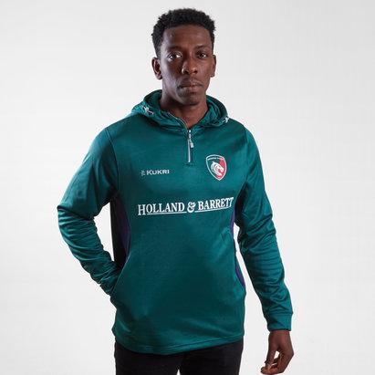 Kukri Leicester Tigers 2018/19 Sudadera de Jugador con Capucha de Rugby