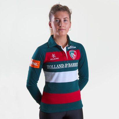 Kukri Leicester Tigers 2018/19 Home Camiseta Clasica de Rugby