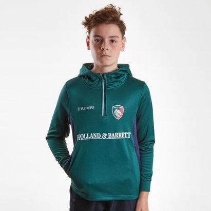 Kukri Leicester Tigers 2018/2019 Sudadera con Capucha de Rugby para Niños
