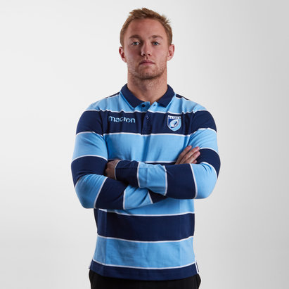 Macron Cardiff Blues 2018/19 Camiseta de Algodon de Rugby