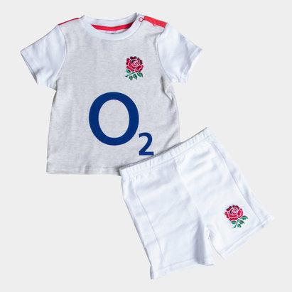 England Rugby Inglaterra RFU 2018/19 Set de Rugby para Niños Camiseta y Shorts