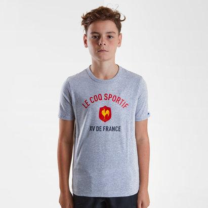 Le Coq Sportif Francia 2018/19 Camiseta de Rugby para Niños