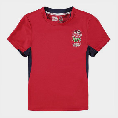 England Rugby Inglaterra RFU T-Shirt Poliester de Rugby Para Niños