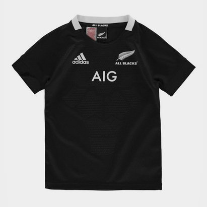 adidas Nueva Zelanda All Blacks 2018/19 Home Camiseta de Rugby para Niños