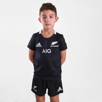 adidas Nueva Zelanda All Blacks 2018/19 Home Kit de Rugby Mini para Niños