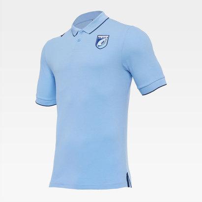 Macron Cardiff Blue Travel Polo Shirt Mens