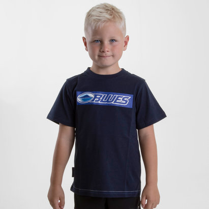 Brandco Blues 2019 Kids Graphic Super Rugby T-Shirt