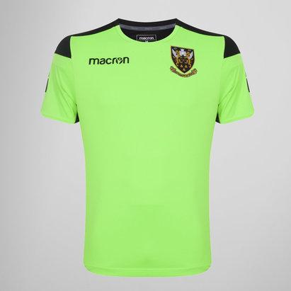 Macron Northampton Saints 2017/18 Poly - Camiseta de Rugby de Entrenamiento para Niños