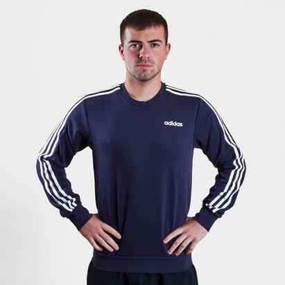 adidas Essential 3 Stripe Crew Sweater