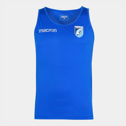 Macron Cardiff Rugby Vest Mens