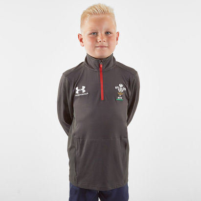 Under Armour Wales WRU 2019/20 Kids 1/4 Zip Training Top