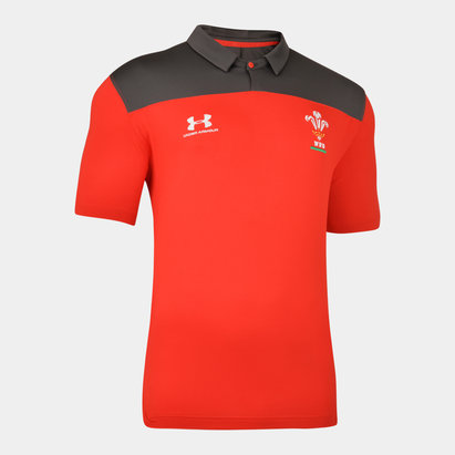 Under Armour Wales Rugby Polo Shirt 2019 2020 Mens
