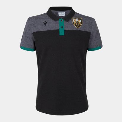 Macron Northampton Saints 2019/20 Players Travel Rugby T-Shirt