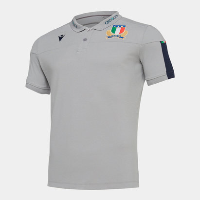 Macron Italy 2019/20 Players Travel Polo Shirt