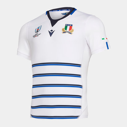 Macron Italia RWC 2019 Camiseta Autentica Alternativa Replica de Rugby