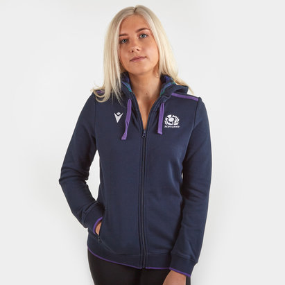 Macron Scotland 2019/20 Ladies Cotton Hooded Rugby Sweat