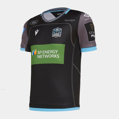 Macron Glasgow Warriors 2019/20 Home Kids Replica Rugby Shirt