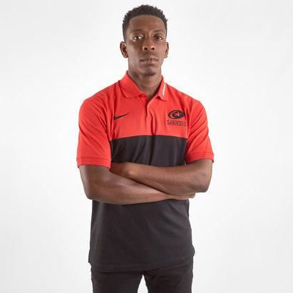 Nike Saracens 2019/20 Players Pique Polo Shirt