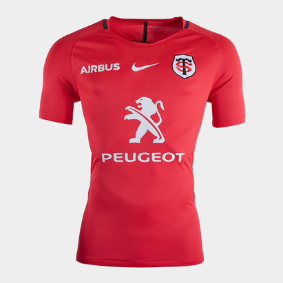 Nike Toulouse 2019/20 Players Squad S/S Rugby Training Shirt