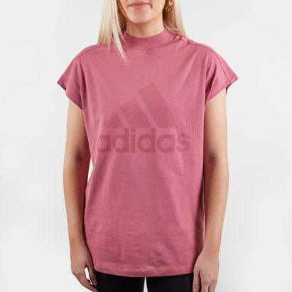 adidas Harlequins Ladies ID Mock Neck Rugby T-Shirt