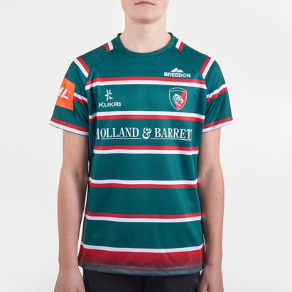 Kukri Leicester Tigers 2019/20 Home Kids Replica Shirt