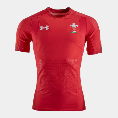 Under Armour Wales WRU 2018/19 Home Unsponsored S/S Test Match Day Shirt