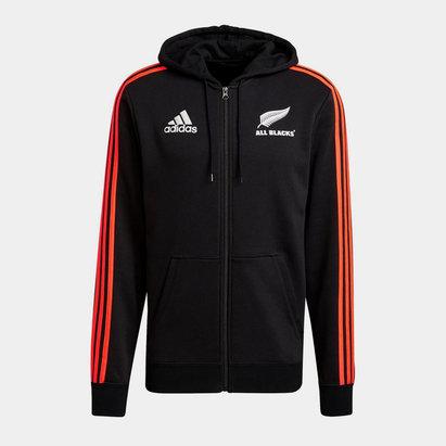 adidas New Zealand All Blacks Full Zip Hoodie Mens