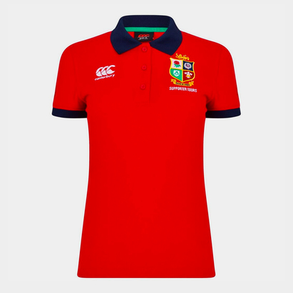 Canterbury British And Irish Lions Cotton Polo Shirt Ladies