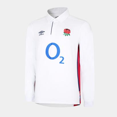 Umbro England Mens Home L/S Classic Shirt 21/22