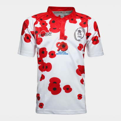 Samurai Army Rugby Union Poppy Appeal M/C - Camiseta de Rugby