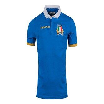 Italia 2017/18 Home M/C Algodón Réplica - Camiseta de Rugby
