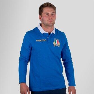 Italia 2017/18 Home M/L Algodón Réplica - Camiseta de Rugby