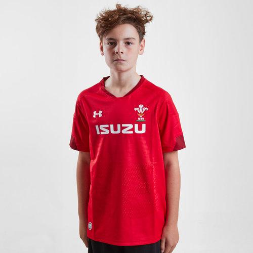 Gales WRU 2017/19 Niños Home M/C Réplica - Camiseta de Rugby