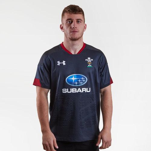 Gales WRU 2017/18 Alternativa M/C Réplica - Camiseta de Rugby