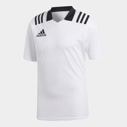 Team Wear 3 Rayas M/C Ajustada - Camiseta de Rugby
