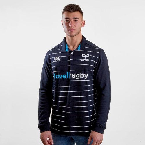 Ospreys 2018/19 Home Clasica M/L - Camiseta de Rugby