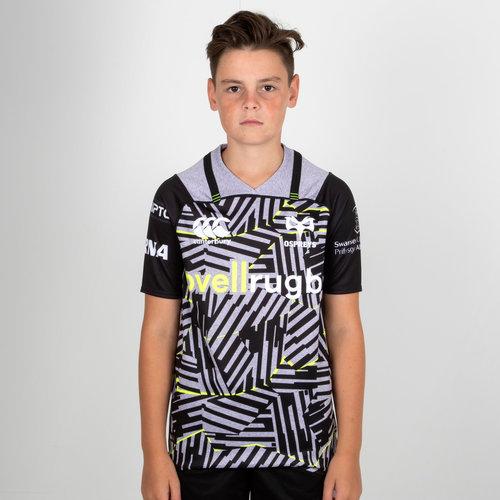Ospreys 2018/19 Jóvenes 3a M/C Pro - Camiseta de Rugby