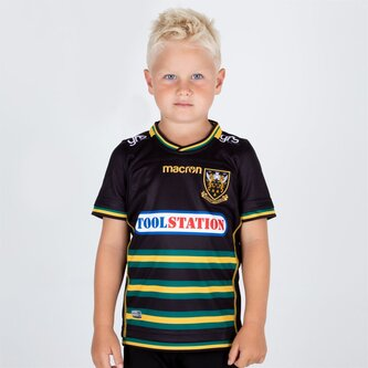 Northampton Saints 2018/19 Home Replica Camiseta de Rugby para Niños
