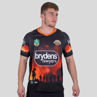 Wests Tigers NRL 2018 Anzac Camiseta de Rugby