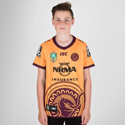 Brisbane Broncos NRL 2018 Indigenous Camiseta de Rugby de Niños